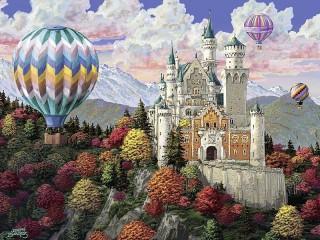 Собирать пазл Старый замок онлайн