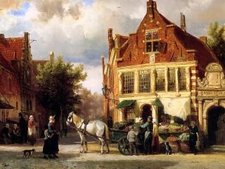 Собирать пазл Старинная Голландия онлайн