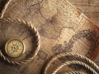 Собирать пазл Старинная карта онлайн