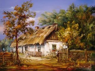 Собирать пазл Старый дом онлайн