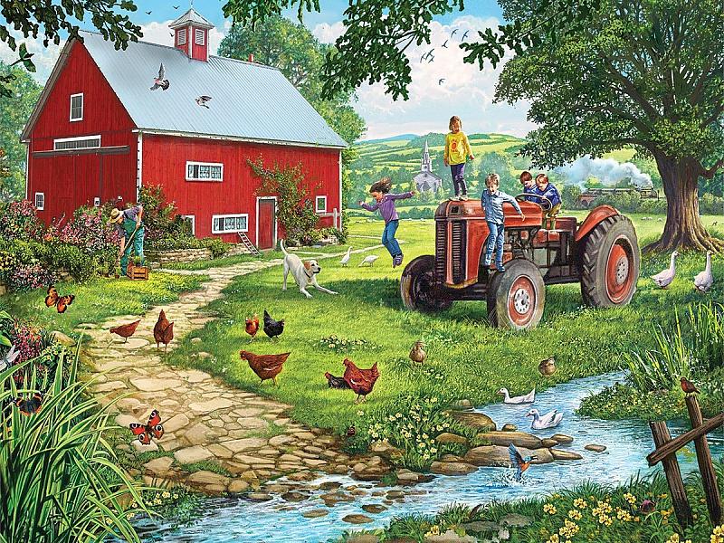 Пазл Собирать пазлы онлайн - Старый трактор