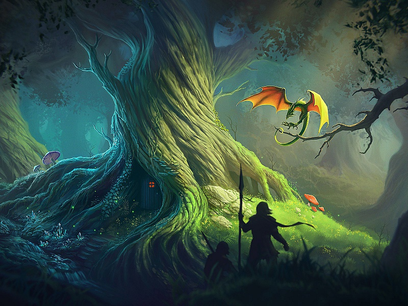 Пазл Собирать пазлы онлайн - Старое дерево