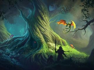 Собирать пазл Старое дерево онлайн