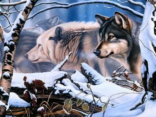 Собирать пазл Стая волков онлайн