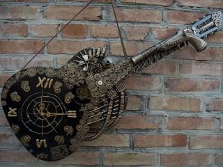 Собирать пазл Стимпанк гитара онлайн