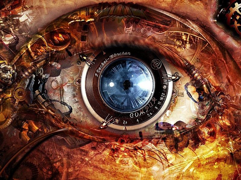 Пазл Собирать пазлы онлайн - Стимпанк глаз