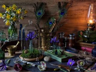 Собирать пазл Стол флориста онлайн