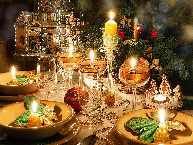 Пазл Стол к Рождеству