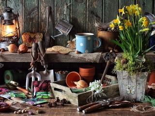 Собирать пазл Стол садовника онлайн