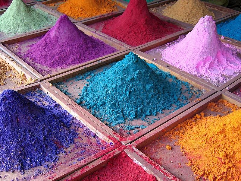 Пазл Собирать пазлы онлайн - Сухие краски
