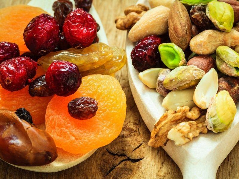 Пазл Собирать пазлы онлайн - Сухофрукты орехи
