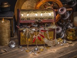 Собирать пазл Сундук с сокровищами онлайн