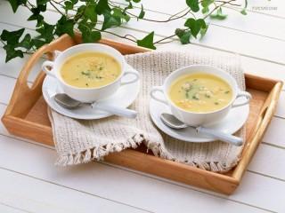 Собирать пазл Суп  онлайн