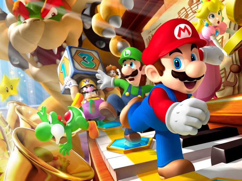 Пазл Собирать пазлы онлайн - Супер Марио
