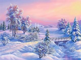 Собирать пазл Суровая зима онлайн