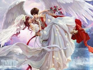 Собирать пазл Свадьба в аниме онлайн
