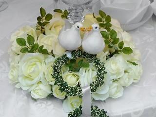 Собирать пазл Свадебные голуби онлайн