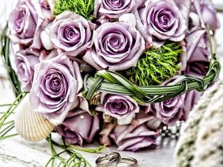 Собирать пазл Свадебный букет онлайн