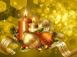Собирать пазл Свечи и шары онлайн