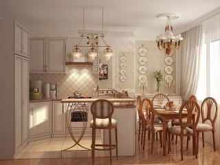 Собирать пазл Светлая кухня онлайн