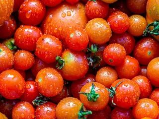 Собирать пазл Свежие помидоры онлайн