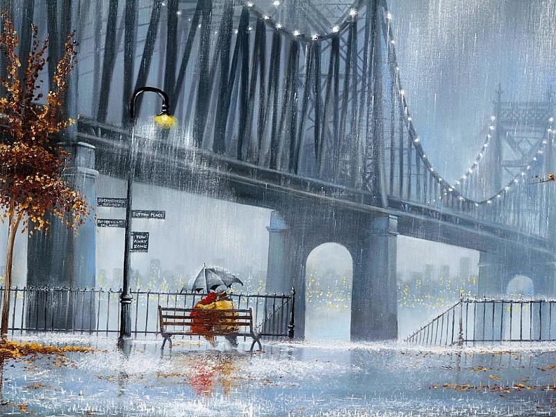 Пазл Собирать пазлы онлайн - Свидание у моста
