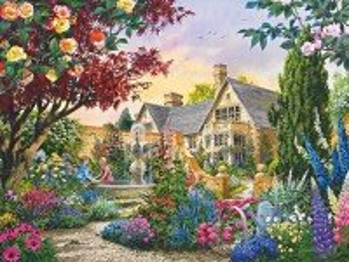 Собирать пазл Свидание в саду онлайн