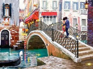 Собирать пазл Свидание в Венеции онлайн