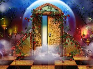 Собирать пазл Таинственная дверь онлайн