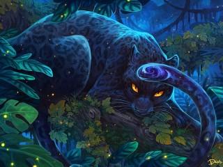 Собирать пазл Таинственная пантера онлайн