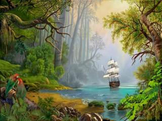 Собирать пазл Таинственный остров онлайн