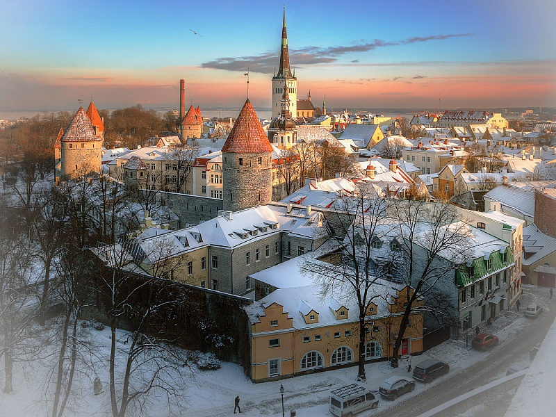 Пазл Собирать пазлы онлайн - Таллин