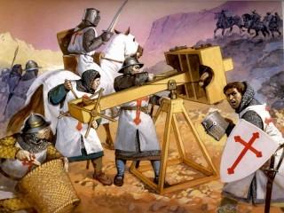 Собирать пазл Крестоносцы в бою онлайн