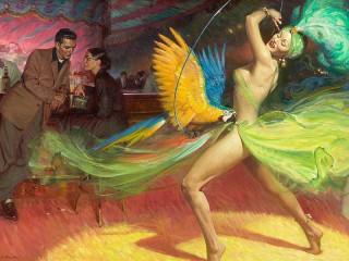 Собирать пазл Танец с попугаем онлайн