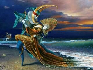Собирать пазл Танго на берегу онлайн