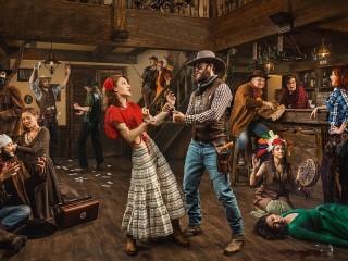 Собирать пазл Танцы с ковбоем онлайн