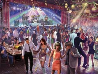 Собирать пазл Танцуем твист онлайн