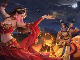 Собирать пазл Танцующий огонь онлайн