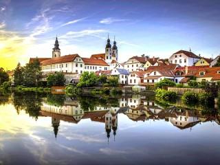 Собирать пазл Тельч Чехия онлайн