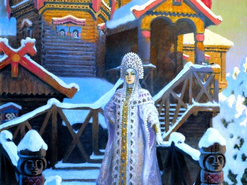 Пазл Собирать пазлы онлайн - Терем царевны Зимы