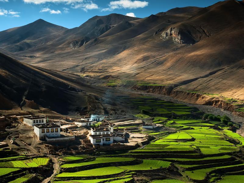 Пазл Собирать пазлы онлайн - Тибет
