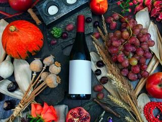 Собирать пазл Тыква и виноград онлайн