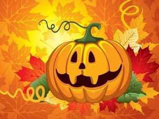 Собирать пазл Тыква на Хэллоуин онлайн