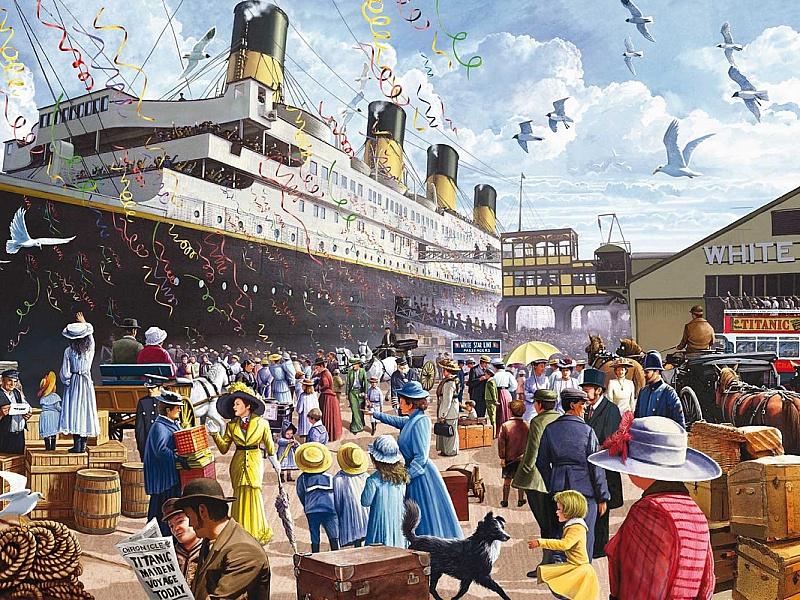 Пазл Собирать пазлы онлайн - Титаник