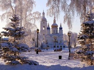 Собирать пазл Тобольский кремль онлайн
