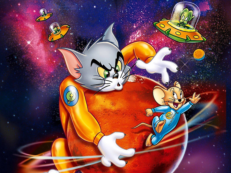 Пазл Собирать пазлы онлайн - Том и Джерри