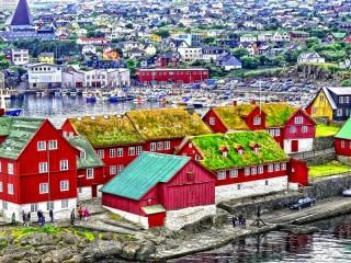 Собирать пазл Торсхавн Дания онлайн