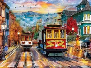Собирать пазл Трамваи онлайн