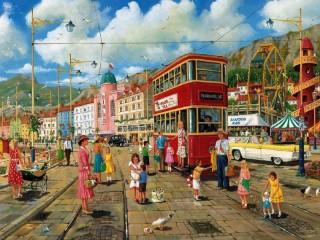Собирать пазл Трамвай онлайн
