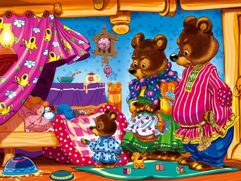 Пазл Собирать пазлы онлайн - Три медведя